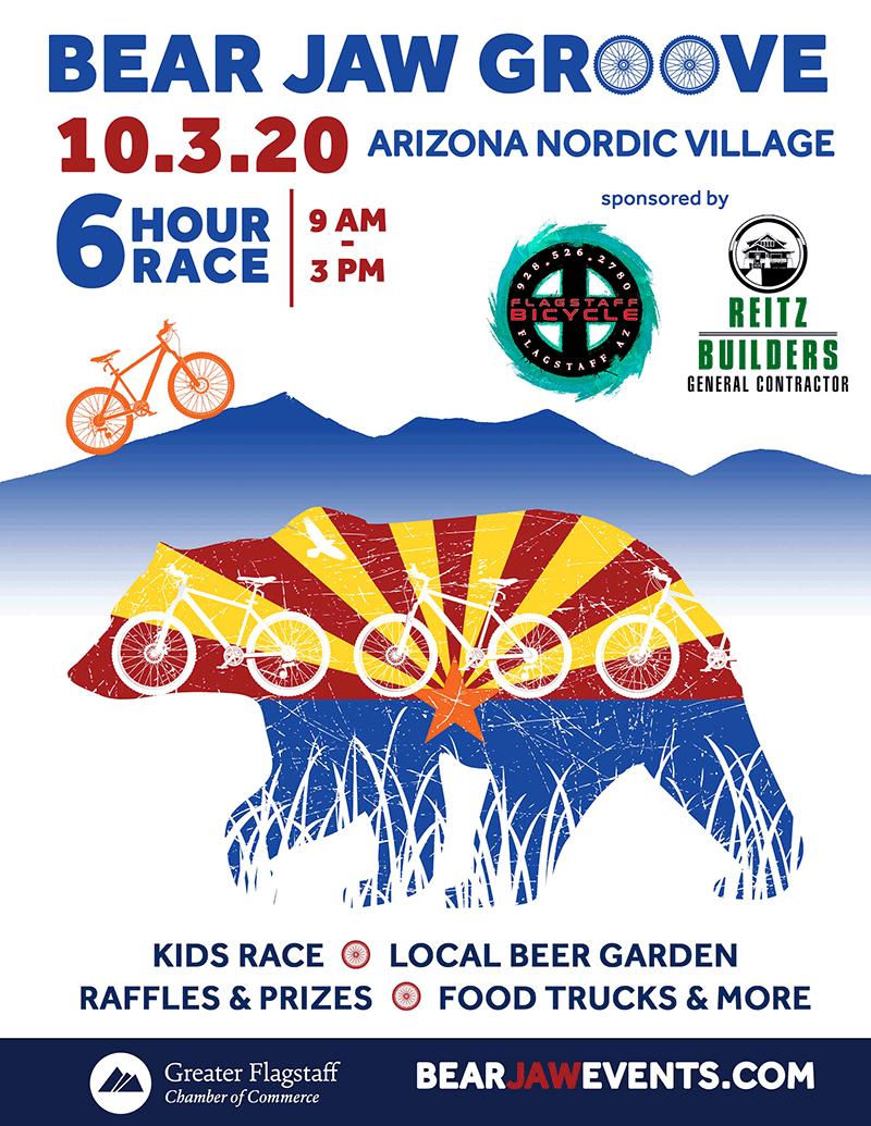 bear jaw sponsored mountain bike event